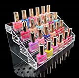 1 Racks Great Popular Hot Nail Polish Organizers Travel Case Jewerly Rack Cube Box Color Transparent 4 Tier Style #06