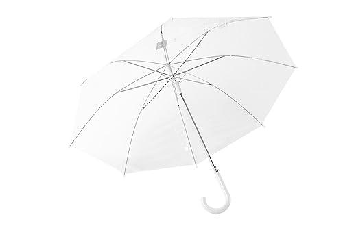 Paraguas mujer largo PERLETTI blanco PVC trasparenty abertura automatica Q722