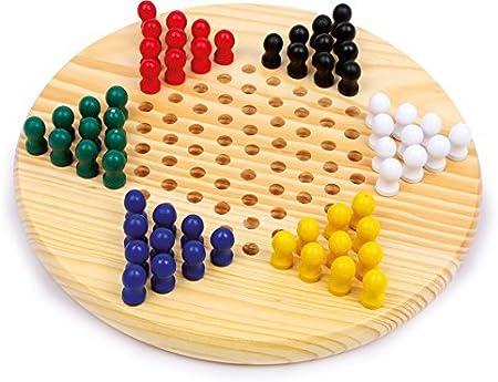 Zeagro Damas Chinas de Madera Gobang (Cinco en Fila) Juego de Mesa 2 en 1 - Juegos de Mesa Familiares para niños y Adultos: Amazon.es: Hogar
