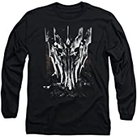 Lord of the Rings Big Sauron Jefe de manga larga para hombre, color negro