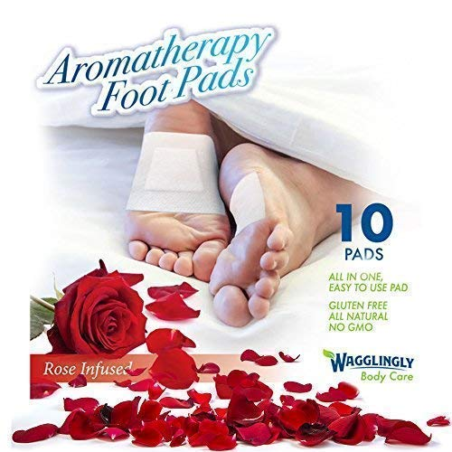 Foot Pads | Cleansing Organic Feet Pads | Natural Foot Care Patches | New Improved FDA Certified Premium All-in-One Rose Patch