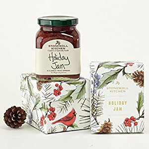 Stonewall Kitchen Jam Collections and Gift - Multiple Flavors and Options (Holiday Berry Flavor, 1 Pack Holiday Gift Box)