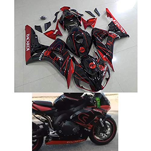 Moto Onfire Motorcycle Red ABS Plastic Injection Body Fairings Kit Fit for 06 07 CBR 1000 RR 2006 2007 CBR1000RR Aftermarket Painted