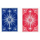 Gemaco Star Poker Index Cards, Red/Blue, Jumbo