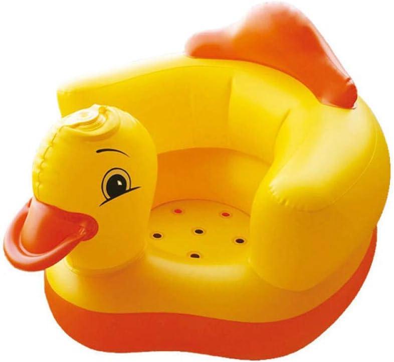 Dtcat Baby aufblasbarer Sitz,Baby-Lernsitz,kleines Sofa,Babymusikstuhl,tragbarer Essstuhl,Badehocker @ Little Yellow Duck/_with Musik,Babywannensitz