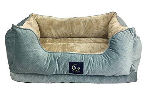 Blue Dog Bed - Serta Ortho Cuddler Pet Bed, Blue
