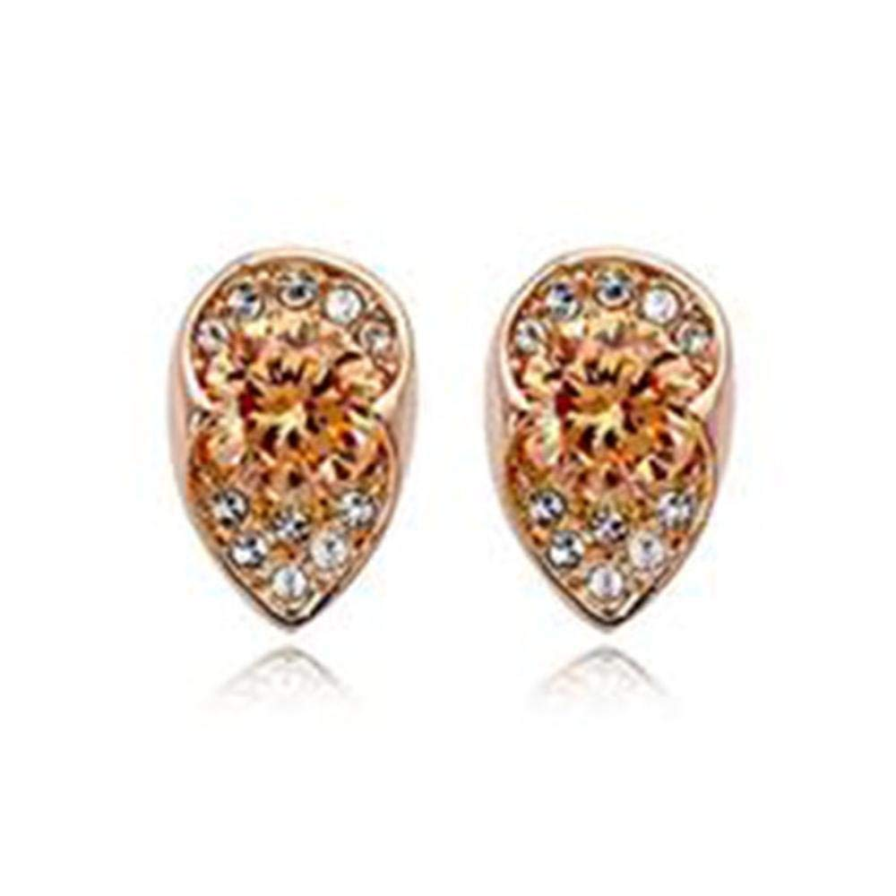 kaige Exquisite Austrian crystal earrings drop necklace Earrings Two-piece set of European and American fashion luxury earrings European and American style fashion earrings