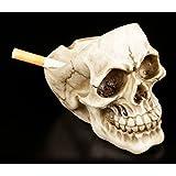 Aschenbecher - Totenkopf ohne Schädeldecke | Figur Gothic Deko Skull