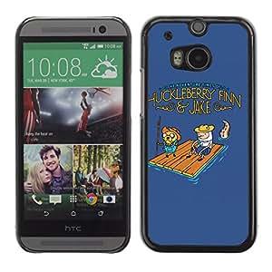 CaseLord Carcasa Funda Case - HTC One M8 / Funny Adventure Huckleberry /