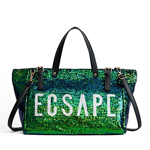 à Green mode main grande portatif capacité de Sacs nouveau de d'emballage de de sac de paillettes sac sac d'épaule messager dXHxwBq1