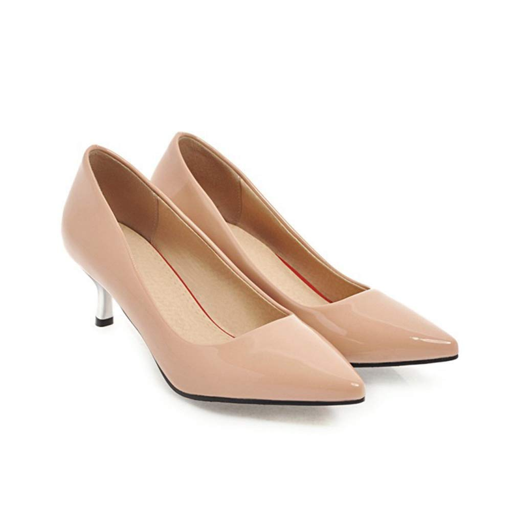 Btrada Toe Women's Fashion Pointed Toe Btrada Pumps Comfortable Work Party Wedding Heeled Dress Shoes Stilettoes B07GB3G588 9 M US|Red f1a2a5