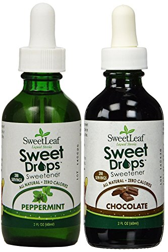 (SweetLeaf Sweet Drops Liquid Stevia Sweetener Peppermint & Dark Chocolate,2 oz (Combo Pack of 2))