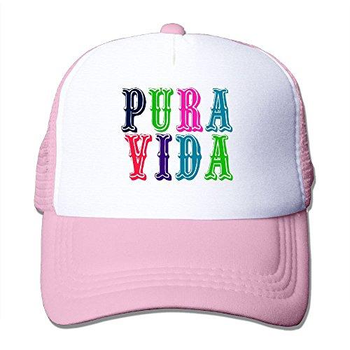 Costa Brava Collection (XiaoHans Momen Costa Rica Pura Vida Cool Travel Pink Mesh Caps Adjustable Snapback)