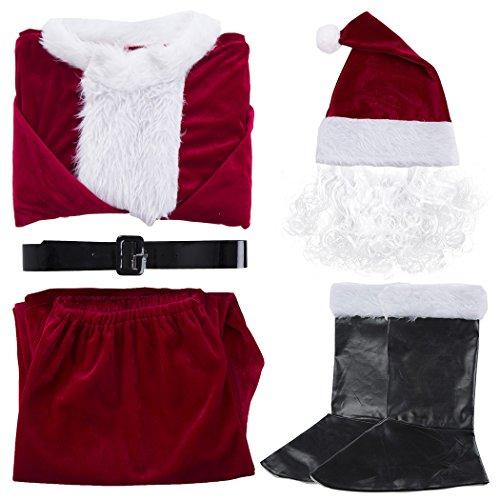 Santa Complete Suit (Santa Suit Adult Men's Christmas Costume Santa Clause Complete)