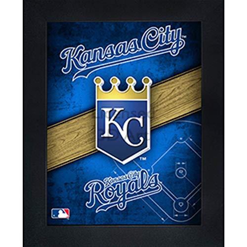 Kansas City Royals 3D Poster Wall Art Decor Framed Print | 14.5x18.5 | Lenticular Posters & Pictures | Memorabilia Gifts for Guys & Girls Bedroom | MLB Baseball Sports Team -