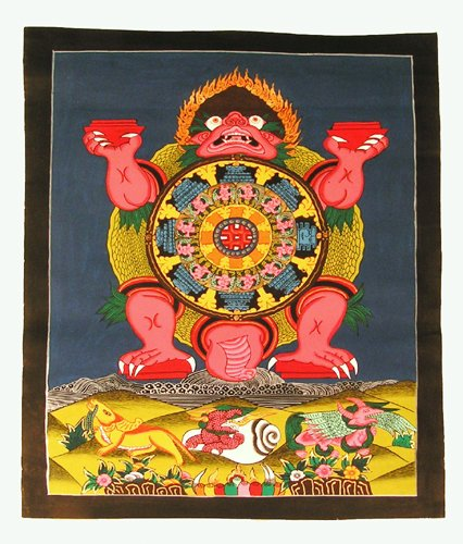 Tibetan Thangka / Wheel of Life
