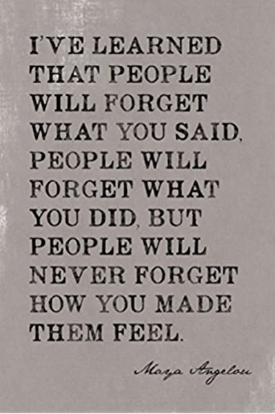 Amazon Com Keep Calm Collection I Ve Learned That People Will Forget Maya Angelou Quote Motivational Poster Posters Prints