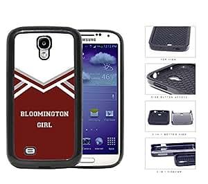 Bloomington City Girl School Spirit Cheerleading Uniform Samsung Galaxy S4 I9500 2-piece Dual Layer High Impact Black Silicone Cover