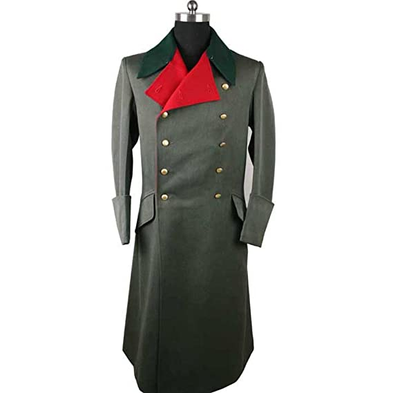 1940s Men's Costumes: WW2, Sailor, Zoot Suits, Gangsters, Detective WW2 German M36 Officer Greatcoat Replica $127.49 AT vintagedancer.com
