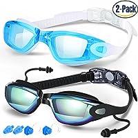 Nadar anteojos, Gafas de natación 2unidades, antivaho, protección UV para hombres adultos mujeres jóvenes niños niño, fabricada por cooloo