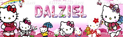 (Personalized Hello Kitty Banner Birthday Poster Custom Name)