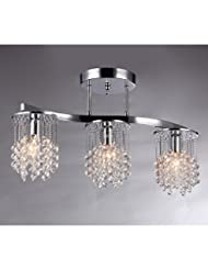 Whse of Tiffany 6719/3 Clee 3-Light Chrome 20\
