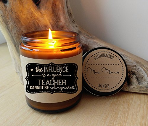Teacher Appreciation Gift Candle Personalized Candle Soy Candle Teacher Gift School Gift Scented Candle Jar Candle Custom Candle