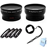 GoPro Hero3 and Hero3+ Wideangle & Telephoto Lens, Filter Kit with Lens Filter Adapter