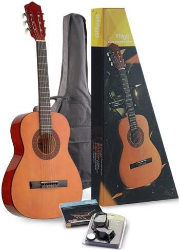 Stagg C530 STARTER P - Pack de guitarra clásica cadete y ...