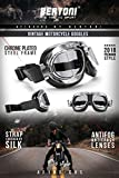 Vintage Motorcycle Goggles with Antifog and