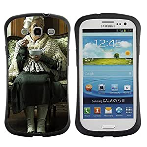 Hybrid Anti-Shock Bumper Case for Samsung Galaxy S3 / Old Woman