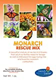 Monarch Rescue Wildflower Seeds Bulk + 8 BONUS Gardening eBooks + Open-Pollinated Wildflower Seed Packets, Non-GMO, No Fillers, Annual, Perennial Milkweed Seeds for Monarch Butterfly