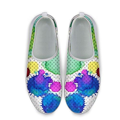 Per Te Disegni Moda Graffic Donna Slip Ultra-leggero Colorato Su Pigre Scarpe Da Passeggio Us5-us12 Color-4