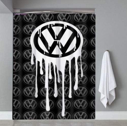 183 x 183 cm Cortina de Ducha con Emblema de VW Volkswagen edici/ón Limitada WvtsUcykyga