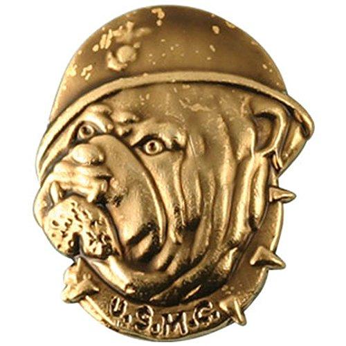 - USMC Bulldog Lapel Pin, Helmet Face