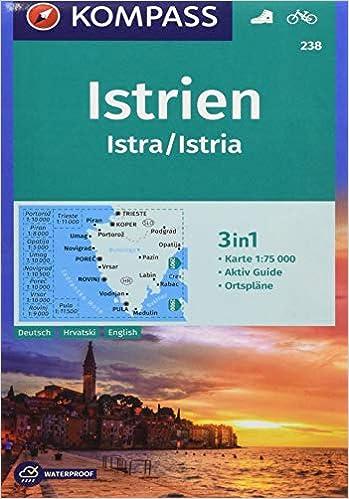 Istrien Karte Rabac.Istrien Istra Istria 1 75 000 9783990444542 Amazon Com Books