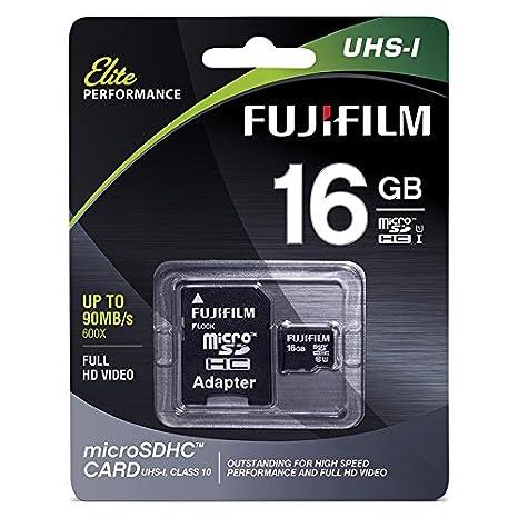 Amazon.com: Fujifilm Elite 16 GB MicroSDHC Class 10 UHS-1 ...