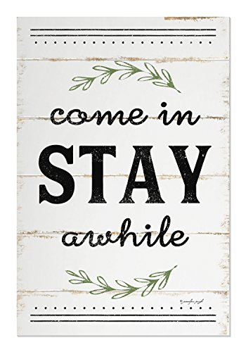 Come in Stay Awhile Shiplap Style Wood Sign 12x18