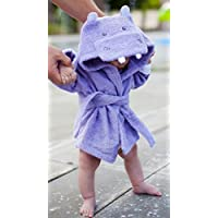Baby Steps, The Best Purple Hippo Hooded Bathrobe & Towel, 0-9 Months. Great ...