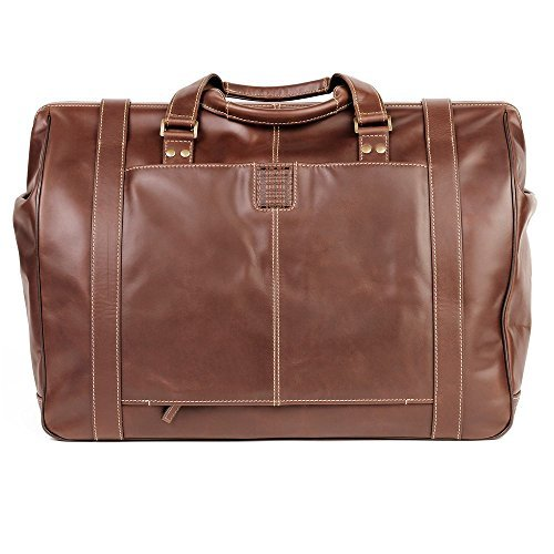 - Boconi Bryant Safari Bag (Antiqued Mahogany with Houndstooth)