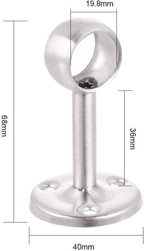 garde-corps INCREWAY Lot de 2 supports en verre en acier inoxydable bross/é en forme de U pour /écrans en verre portes en verre de salle de bain