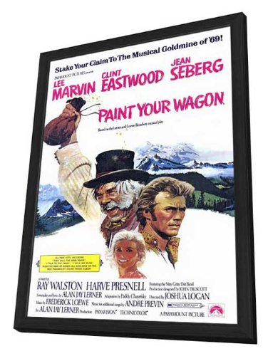 - Paint Your Wagon 11 x 17 Movie Poster - Style A - in Deluxe Wood Frame