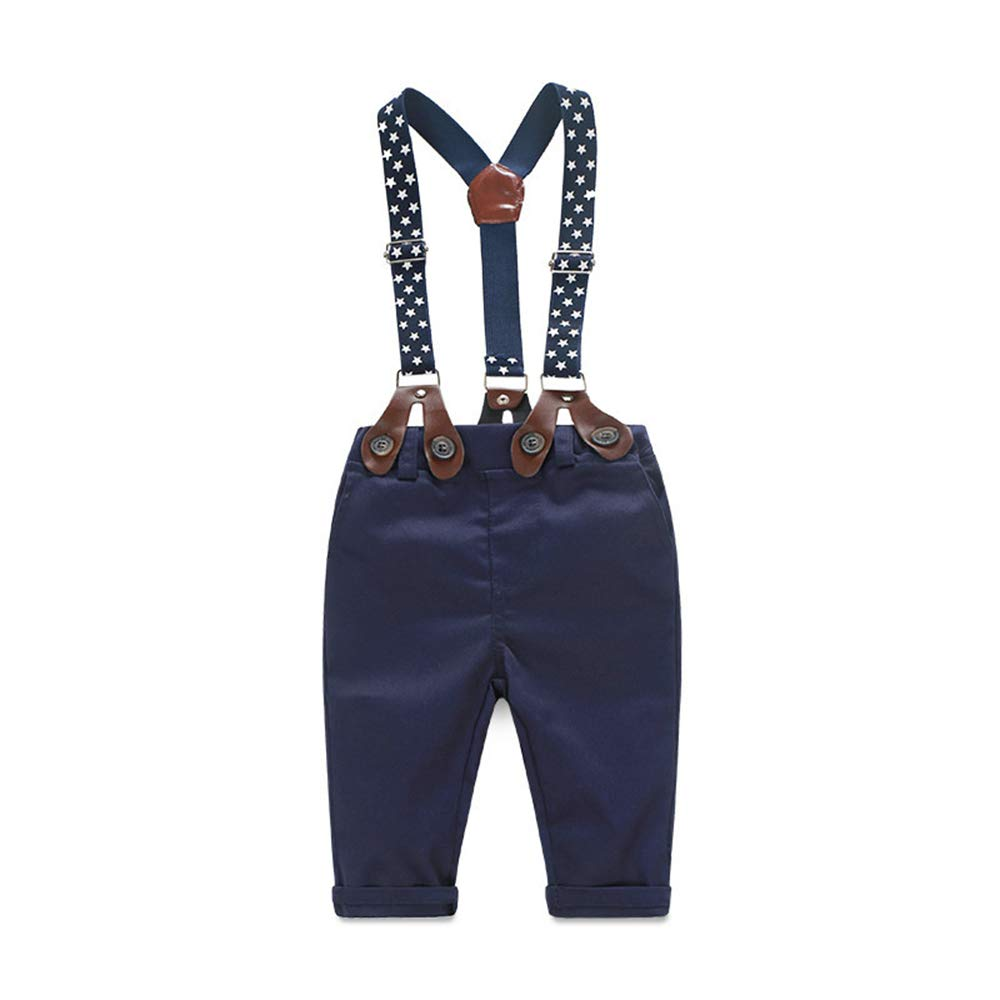 20167929862 Baby Boy Clothes Outfits Sets Autumn Newborn Infant Clothing Gentleman Suit Suspender  Trousers+Top+Bow Tie 3pcs 0-4 Years  Amazon.co.uk  Clothing