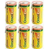 6x OmniCel ER26500HD 3.6V 6.5Ah Sz C Lithium Battery Tabs Sensors Detectors