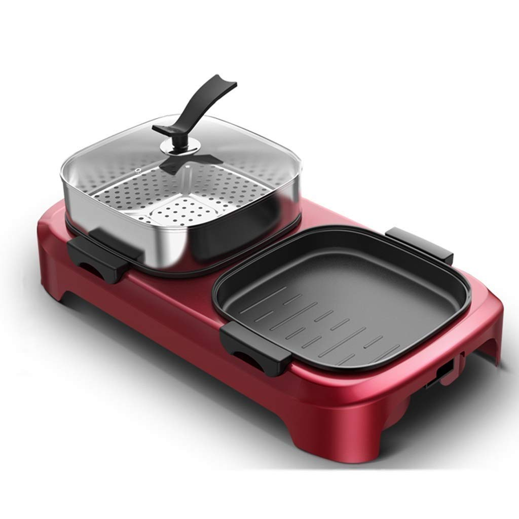 Yyqthg Multifunctional hot Pot, Electric Grill Home Electric Baking Pan Barbecue Machine Multi-Function Smokeless Dual-use Pot Can Be Separated by Yyqthg