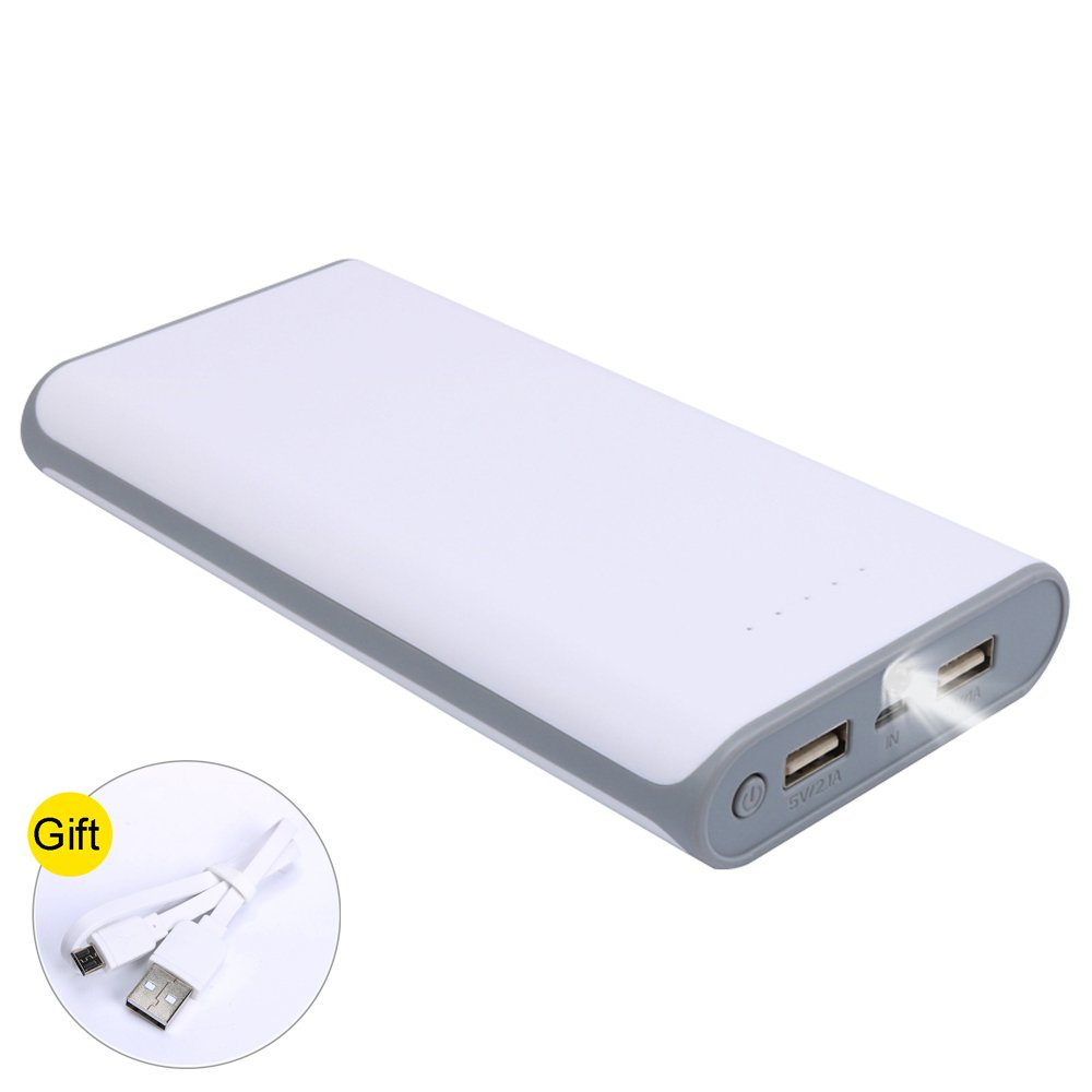 20000mAh Ultra High Capacity Power Bank with 2 USB Output, External Battery Pack for iPhone, iPad & Samsung Galaxy & More (GREY)
