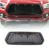 ZGAUTO Replacement ABS Upper Grille Fits for Tacoma 2016-2017(with LED Lights)