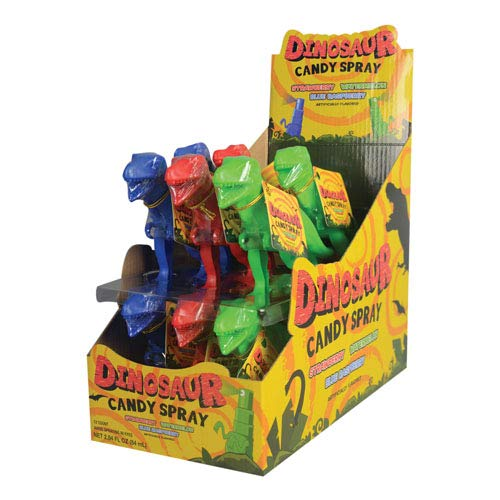Koko's Dinosaur Candy Spray, 0.23 fl oz (7 mL), Display pack of 12