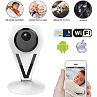 Best Baby Optics Monitor Wifi Wireless Infant Senior in View Digital Color Home Security Video Camera 720P (Supports iOS Android), 2 Way Talkback & Night Vision