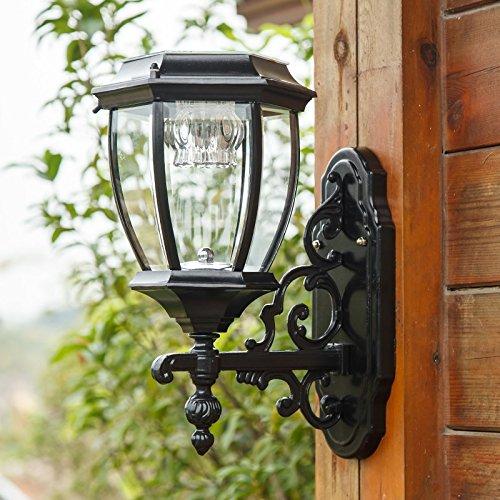 Outdoor Light Solar garden lights outdoor wall lamp wall lamp light sensing super bright lamp waterproof household solar FG209 ( Size : Black M ) by WINZSC